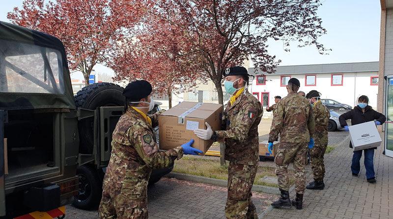 Esercito: Le batterie a cavallo consegnano altre 33.000 mascherine