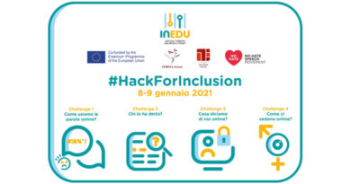 """Al via il Civic Hackathon italiano """"HackforInclusion"""""""